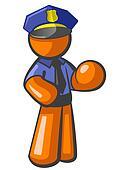 Orange Man Police Officer