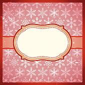 Vintage frame with snowflakes