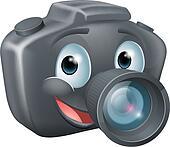 DSLR camera mascot character