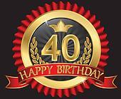 40 years happy birthday golden labe