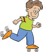 roller skate boy