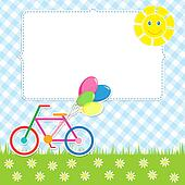 Frame with cute bike