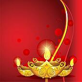 Burning Diwali Diya