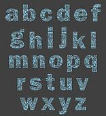 Alphabet of a part of a body