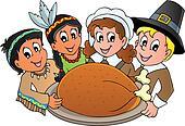 Thanksgiving pilgrim theme 3