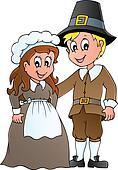Thanksgiving pilgrim theme 1