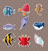 cartoon fish stickers