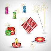 Diwali Crackers Vectors
