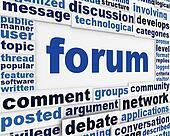 Forum poster conceptual design