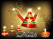 abstract diwali background with cracker