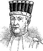 Edouard Adolphe Casimir Joseph Mortier, vintage engraving