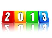year 2013 in color cubes