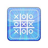 Vector version. Tic tac toe icon. Eps 10 illustration