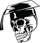 skull in graduation cap