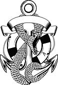 snake anchor and ring-buoy