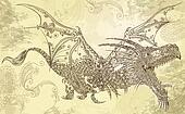 Henna Tattoo Dragon Vector Art