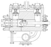 Hydraulic piston pump part