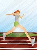 Runner Girl on Track