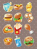 fast food stickers