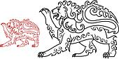 Vintage royal lion