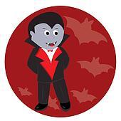 Cartoon cute little vampire