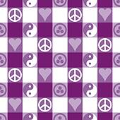 Peace Plaid in Purple