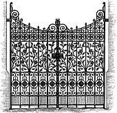 Wrought Iron Gates Engraving