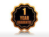 one year guarantee starlike label