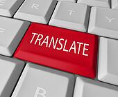 Translate Word Computer Keyboard Key Button