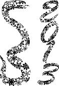 2013 Snake Silhouette with Snowflakes Illustration