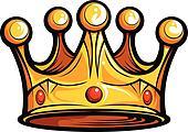 Royalty or Kings Crown  Cartoon Vector Image