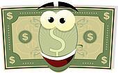 Cartoon US Dollar Character