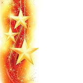 Red golden star border