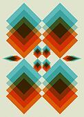 Retro pattern.  Book cover. Background design