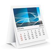 january 2013 desk calendar