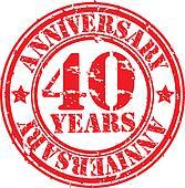 Grunge 40 years anniversary rubber