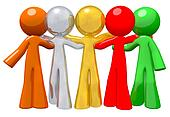 Team Group Togetherness Concept in Success