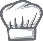 White Chef Hat Clip Art - Royalty Free - GoGraph