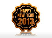 happy new year 2013 in starlike label
