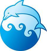 dolphin jumping symbol