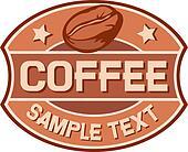 coffee label (coffee bean)