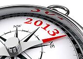 new year 2013 conceptual compass