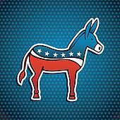 USA elections Democratic Party donkey emblem