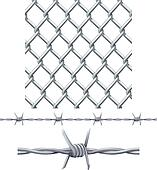 Seamless tiling fence and barbed wi