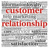 Customer relationship concept on white