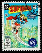 United States Superhero Postage Stamp