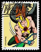 United States Superhero Postage Stamp