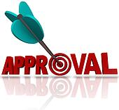 Approval Word Arrow Target Seeking Acceptance Good Reaction