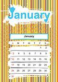 January. 2010 calendar