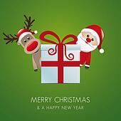 reindeer santa claus gift box